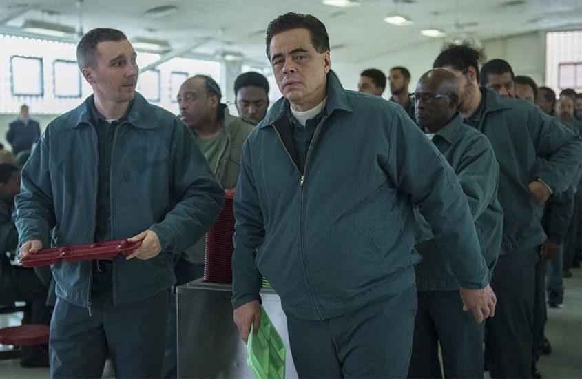 """Paul Dano, left, and Benicio Del Toro play the real-life prison escapees David Sweat and Richard Matt in """"Escape at Dannemora."""""""