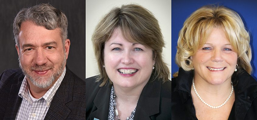 Greg Pluger, Marcia Steiner and Lucy Talley (left to right) are new members of The Daily Gazette board of directors.