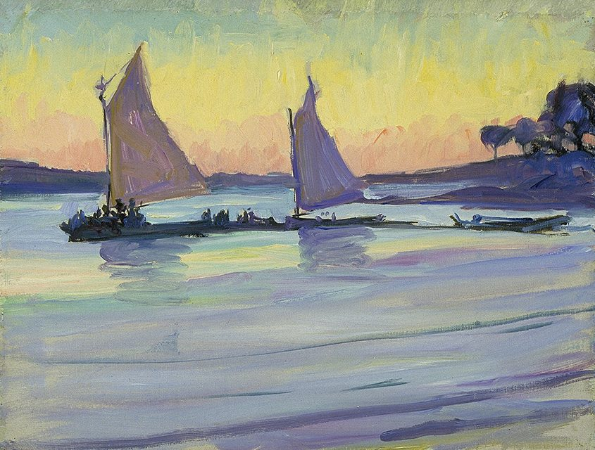 """Jane Peterson's """"Boats on the Nile"""" was part of an exhibit featuring her work at The Hyde Collection."""