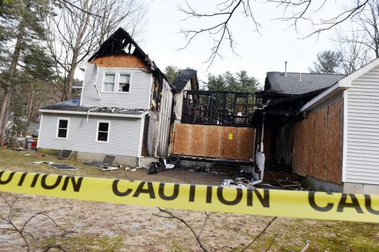 The structure in which one person was killed during a fire Wednesday in Saratoga is seen on Thursday.