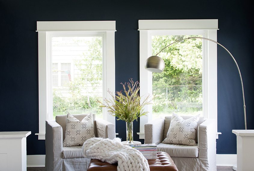 Dark and moody colors are gaining traction throughout the home.