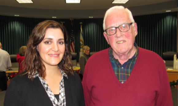 William J. Lee with Supervisor Yasmine Syed
