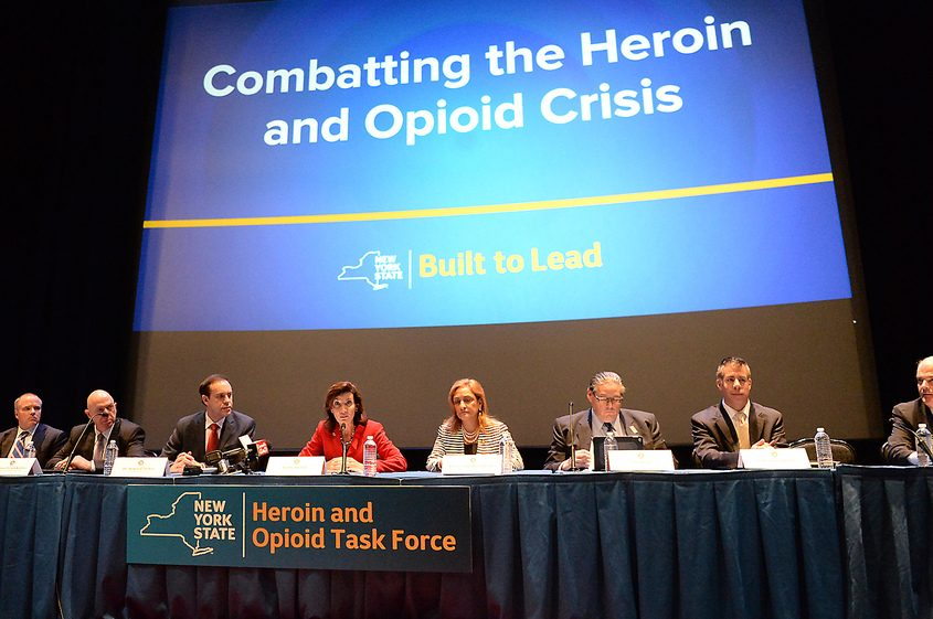 Lt. Gov. Kathy Hochul and Arlene Gonzalez-Sanchez convene the Heroin and Opioid Abuse Task Force.