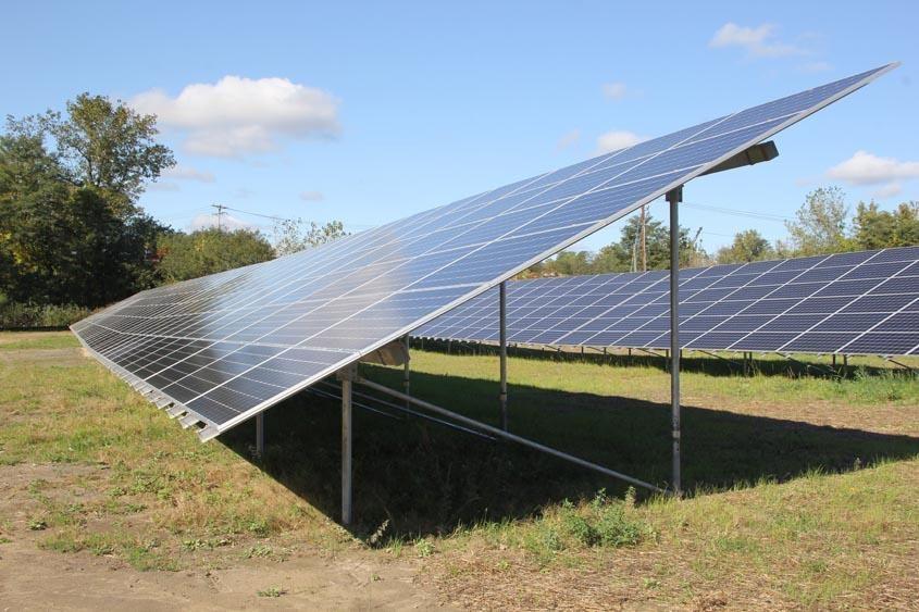 A solar farm in Rotterdam