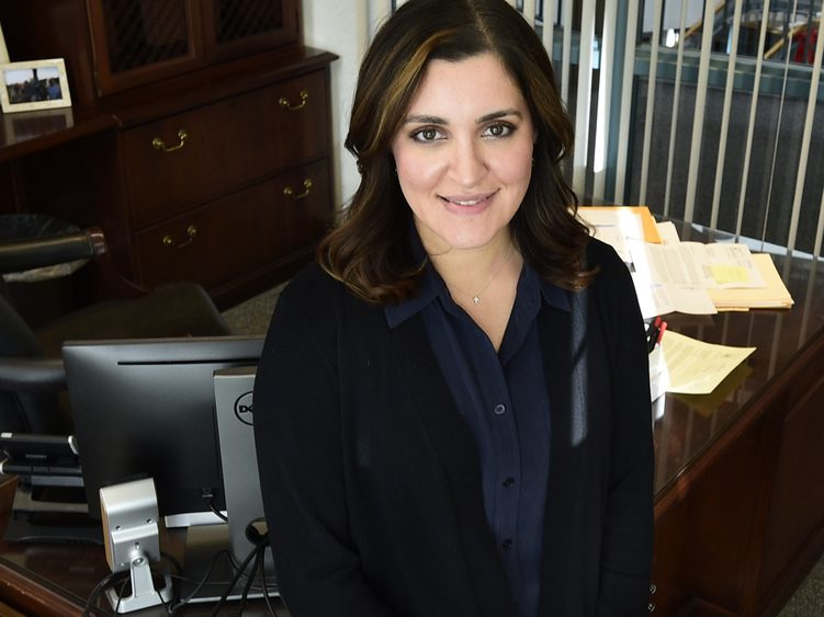 Niskayuna Town Supervisor Yasmine Syed is shown in her office at Town Hall Wednesday, January 9, 2019.