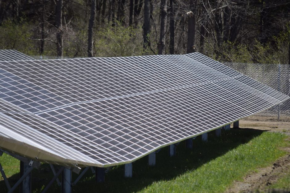 A solar panel is located in Halfmoon.