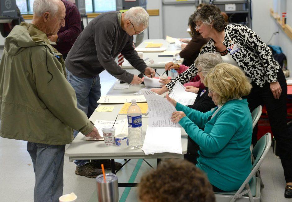 Voters at the Glenville Senior Center on November 6, 2018.