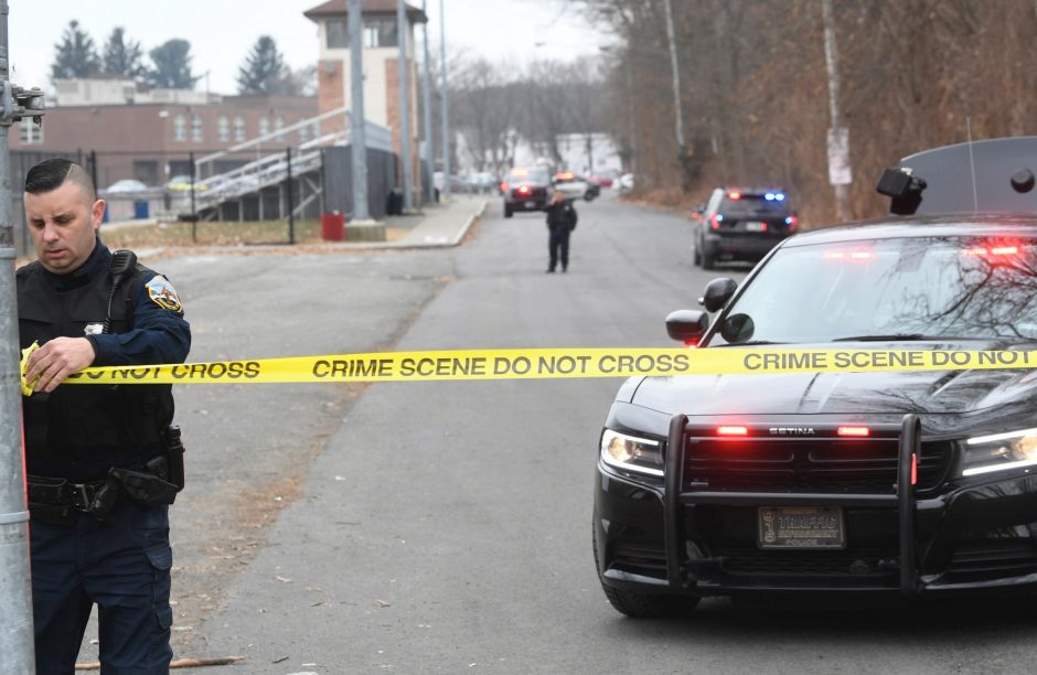 The scene at Schenectady High School Tuesday afternoon