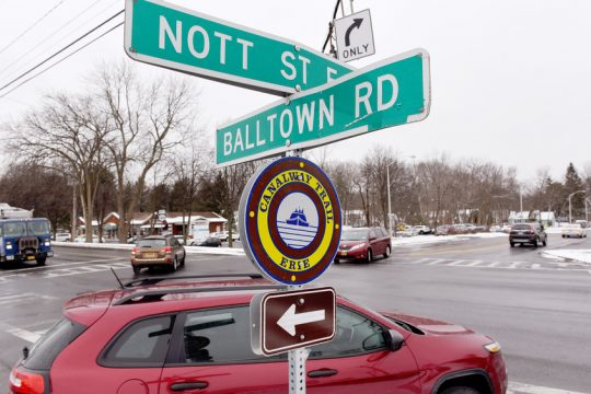 Intersection of Nott Street and Balltown Road, Route 146, in Niskayuna is slated for state improvements.