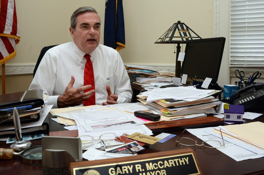 Mayor Gary R. McCarthy is pictured at City Hall in this file photo.