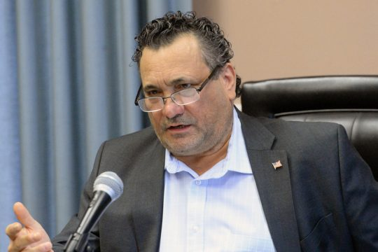 """Amsterdam Mayor Michael Villa gives his """"State of the City"""" address at City Hall on Wednesday."""