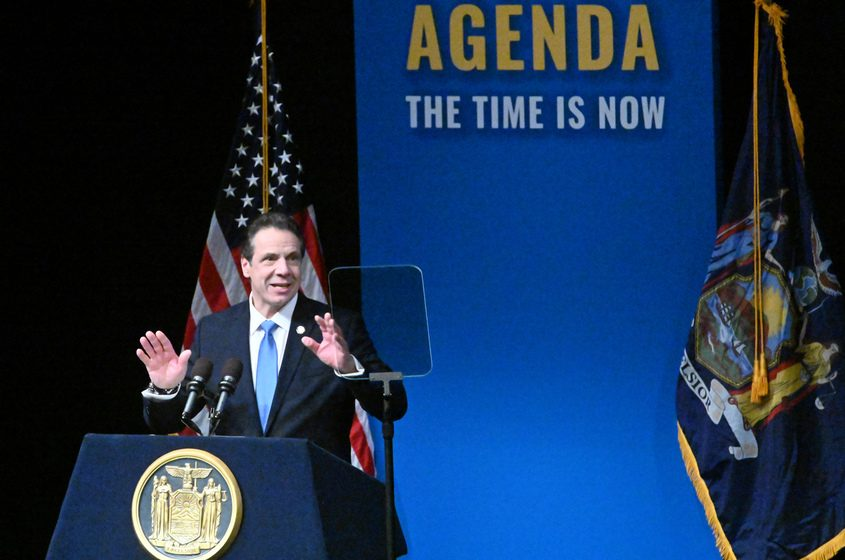 Gov. Andrew M. Cuomo delivers his State of the State address on Jan. 15.