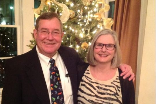 Shown are Ballston Spa mayoral candidate Larry Woolbright, a retired Siena College biology professor, and his wife Meg.