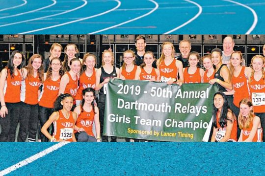 The Niskayuna High School girls' indoor track and field team captured the team title at the Jan. 11-12 Dartmouth Relays
