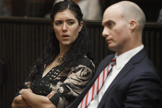 Maria Lentini sits beside her attorney, James Knox, after being sentenced on June 1, 2017.