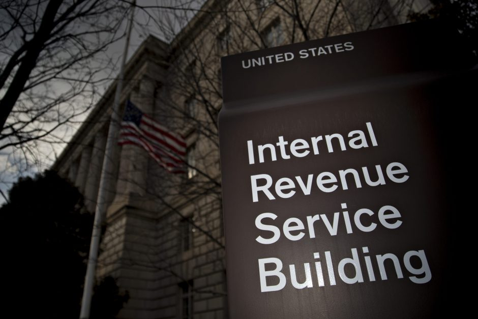 Th IRS headquarters building in Washington on Feb. 17, 2016.