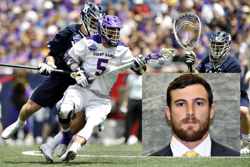 John Maloney (inset) is a new UAlbany men's lacrosse assistant coach.
