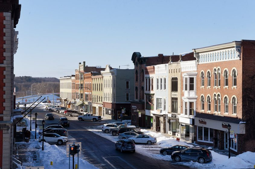 City officials are considering how to improve downtown Amsterdam's Main Street, shown here on Friday.