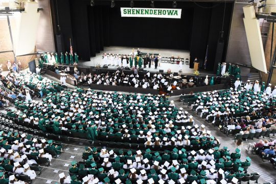 A scene from Shenendehowa High School's 2018 graduation