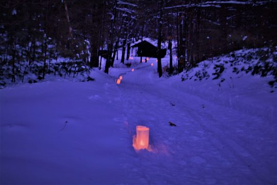 Candlelight ski and snowshoe at Wilton Wildlife Preserve. Saratoga Spa State park will host a candlelight ski of its own tonight