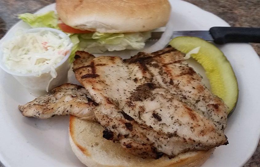 The chicken sandwich at Broadway Lunch in Schenectady.