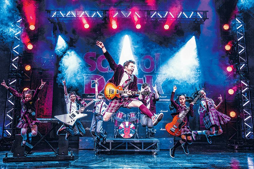 "A scene from the touring musical ""School of Rock."""
