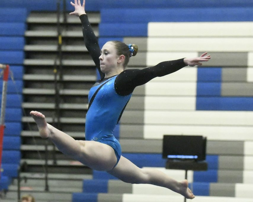 Saratoga Springs sophomore Ava Dallas had the best floor exercise score at the Section II championships.