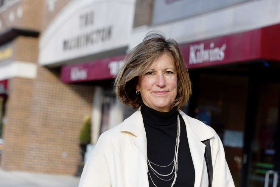 Patty HasBrouck outside on Broadway in Saratoga Springs, February 8, 2019.