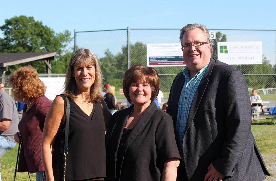 Daphne Jordan, left, stands with former state Sen. Kathy Marchione and Halfmoon Supervisor Kevin Tollisen.