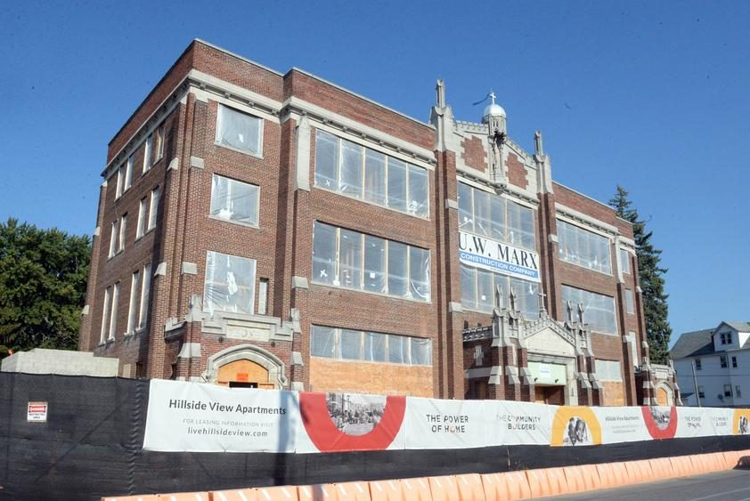 The former St. Columba's School is part of The Community Builders' revitalization project.