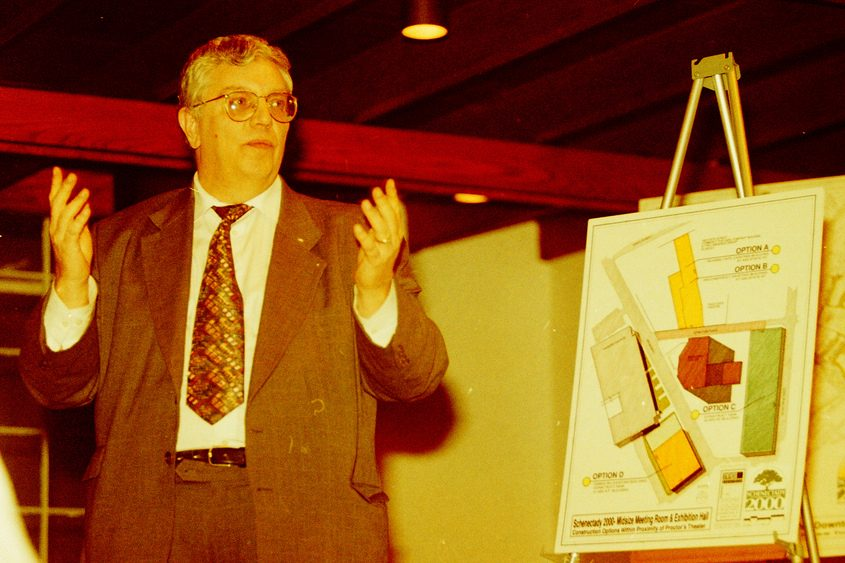 George Robertson discusses economic development in Schenectady in 1997.