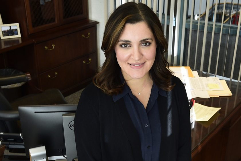 Niskayuna Town Supervisor Yasmine Syed is pictured in her office at Town Hall on Jan. 9.