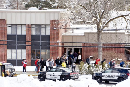 The BOCES on Henning Road during the police response