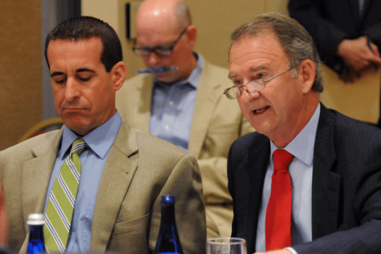 Christopher Kay, president and CEO of NYRA, is shown in this file photo taken Aug. 12, 2015 at the Saratoga Holiday Inn.