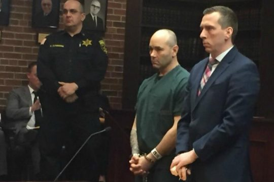 Stephen Lerario appears in Saratoga County Court for a bail hearing in this file photo.