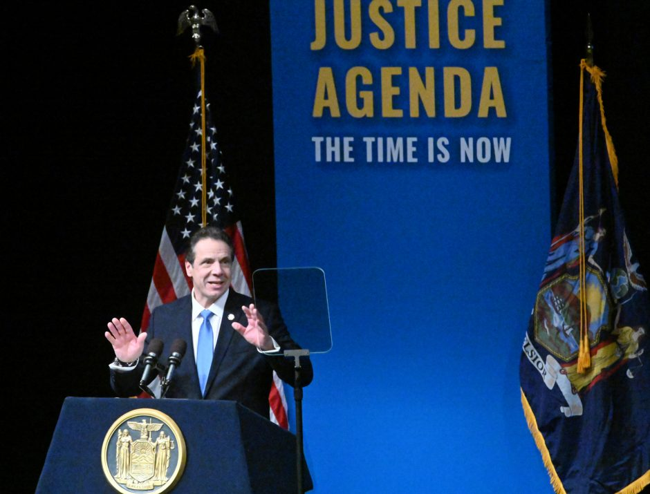 Gov. Cuomo gives his State of the State address on Jan. 15.