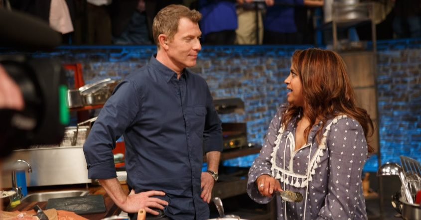 Aneesa Waheed, owner of Tara Kitchen in Schenectady, with Bobby Flay