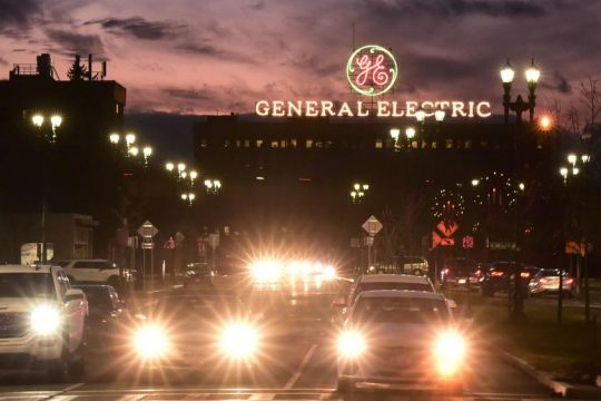 General Electric's Schenectady facility is shown in December.