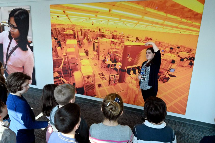 SUNY Polytechnic Institute in Albany celebrated Pi Day by connecting elementary students with Tech Valley High students.