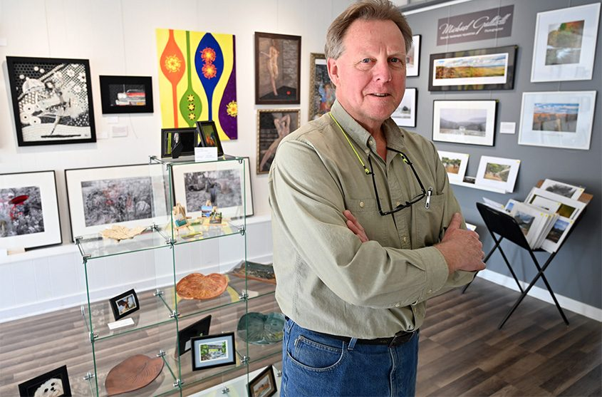 Timothy Prendergast stands in Northpoints Gallery on Mohawk Avenue in Scotia.