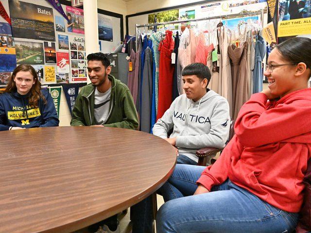 Schenectady High School seniors Audrey Canty, Fejan Karn, Amrit Lekram and Luisa Sanchez.