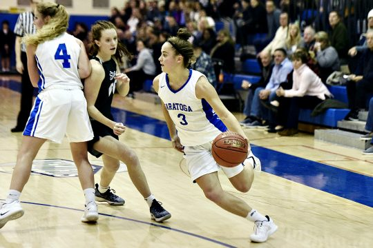 Saratoga Springs' Dolly Cairns is shown during a 2018-19 game.