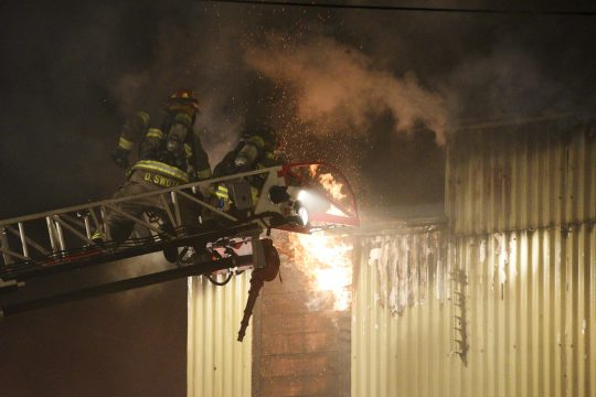 A structure fire broke out at Common Roots Brewing Company in South Glens Falls on Route 9 on Monday evening.