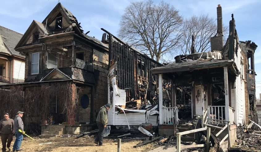 The aftermath of Wednesday's fire in Schenectady