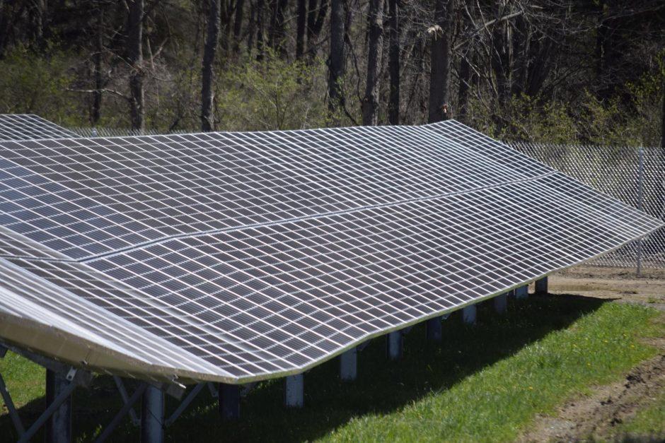 A solar panel in Halfmoon