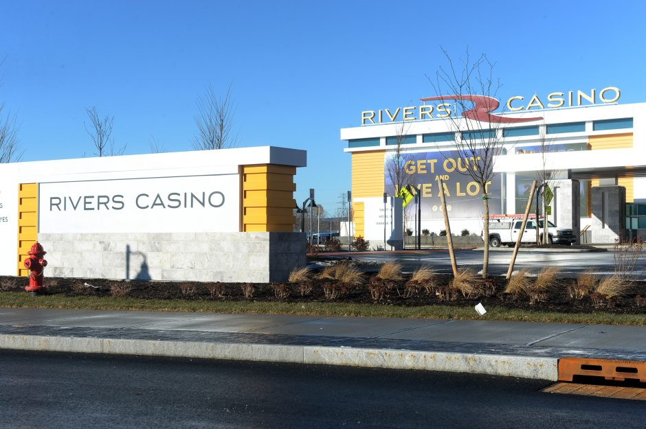 The entrance to the Rivers Casino & Resort is pictured.