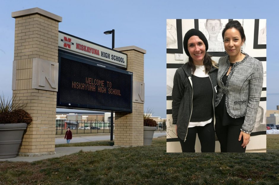 Athena Fliakos (left) and Christina Roberts would help the district to further equity and diversity, if approved.