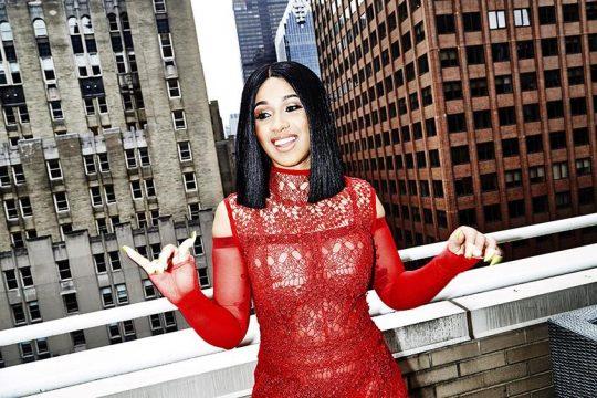 Cardi B poses in New York City in 2017