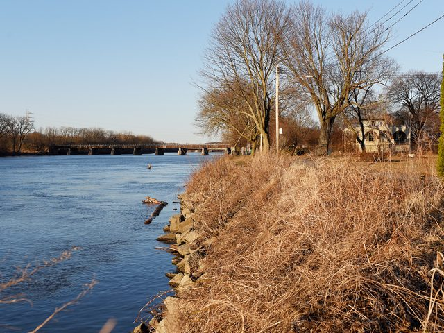 This photo of the Mohawk River facing east was taken on its banks in Schenectady's historic Stockade section.