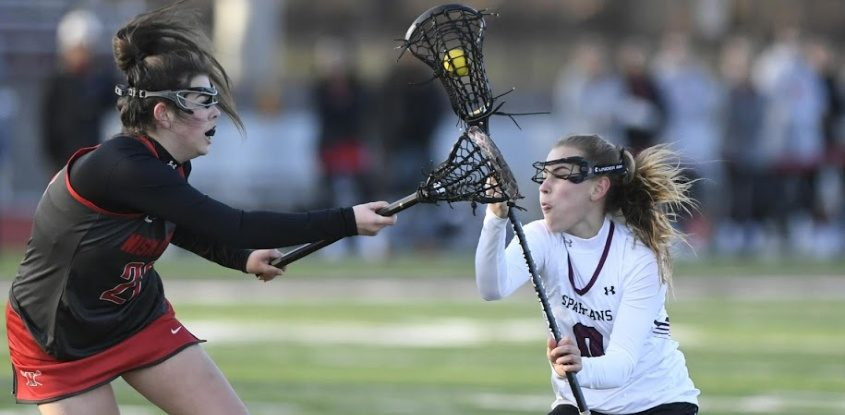 Burnt Hills eighth grader MK Lescault scored eight goals in a 27-0 Suburban Council girls' lacrosse win over Albany.